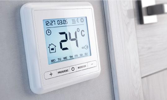 Energy efficient home design smart thermostat