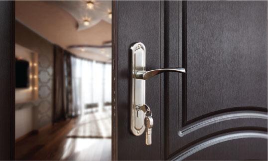 Open door into an Energy Efficient Home Designs